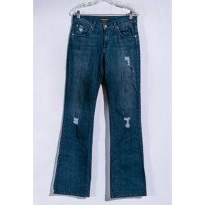 James Jeans Reboot Distressed Medium Wash Sz 28
